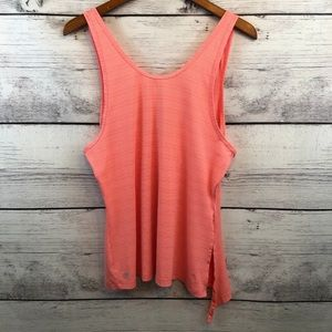 Athleta Womens Tank Top Orange Scoop Back M